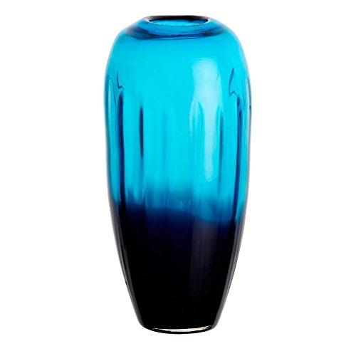 Blumenvase Glas Vase Tischvase Tischdeko Hochzeitdeko Raumdekoration Laguna Blau 30 cm Glasvase -