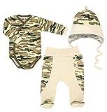 2 oder 3-TLG. Baby Set Wickelbody oder Body mit Hose Größe 56-92 (68, Trapper)