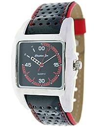 Reloj analógico de señora Christian Gar Cuadrado Mod.Fashion 7241- Color Rojo