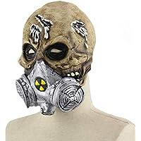 HZJA Halloween Navidad Bioquímica Cráneo Cabeza Máscara, Látex Adulto Terror Ghost Divertido Bar Prom Zombie Up Máscara De Apoyo De Miedo