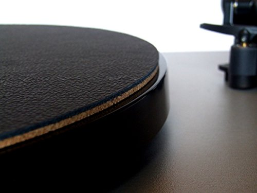 Wooden Bull - Leather and Cork Audiophile Turntable Mat - BLACK