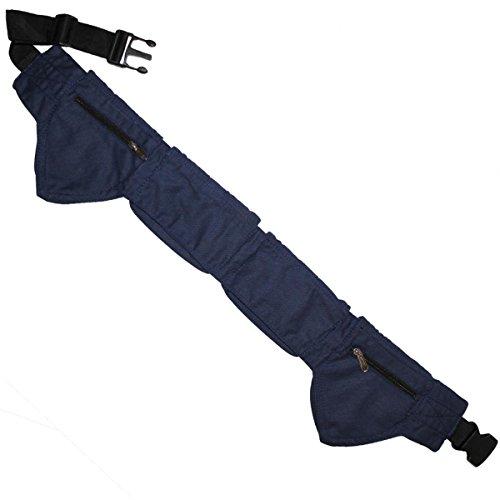 Freak Scene® Tasche ° Gürteltasche ° Jeremy ° Bauchtasche ° Hüfttasche mit mehreren Taschen, alle Farben!!! blau