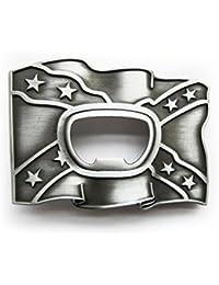 eeddoo Cinturón Hebilla–Abrebotellas bandera (Buckle para cambio Cinturón para hombre y mujer)