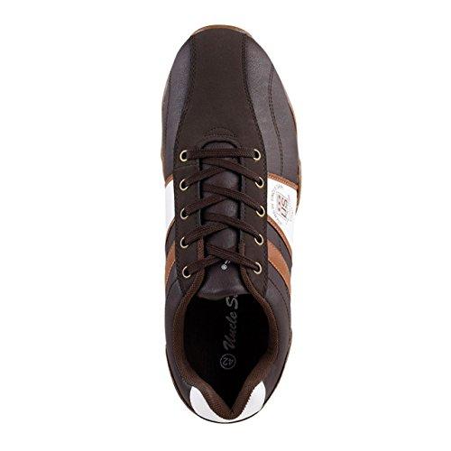 Uncle Sam Herren Fashion Sneaker in Braun Dunkelbraun