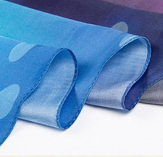 Helan femmes Réel Soie Naturelle 110 X 110 cm foulards carrés dot coloré