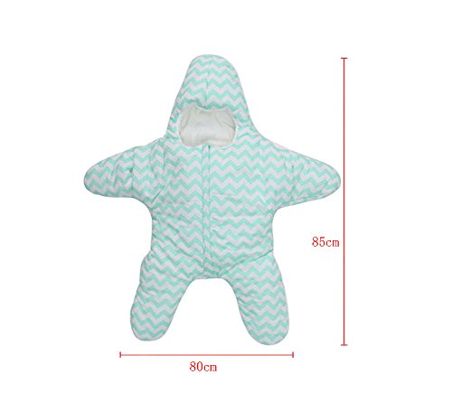 Dorapocket Baby Starfish Bunting Cotton Schlafsack Neugeborene Säcke Swaddling Decke,Grau