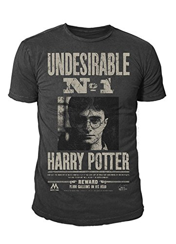 Harry Potter - Herren T-Shirt - Undesirable No 1 (Grau) (S-XL) (L)