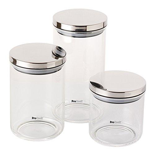 ProCook Glass Storage Jars Set of 3