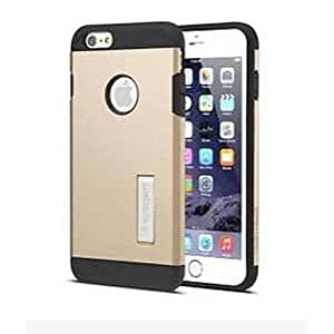 4.7 Inch Black TPU with Metal Slate Metal Colour with Black Igadgitz Print for iPhone 6(Asstorted Color) , Golden Protective Smartphone Shell