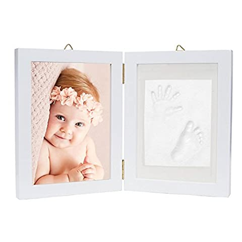Baby Hand and Footprint Picture Frame Kit - Memorable Keepsakes Gift for New Born, Baby Shower or Christening Gift, Toddlers Birthday presents
