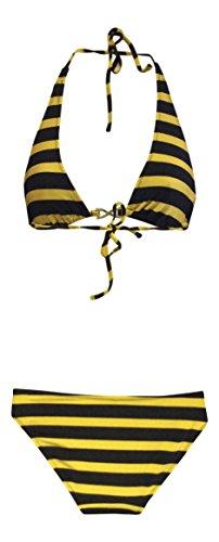 donna-urban-outfitters-halterneck-triangolo-superiore-e-inferiore-set-m-38-40-eur-nero-oro-banda