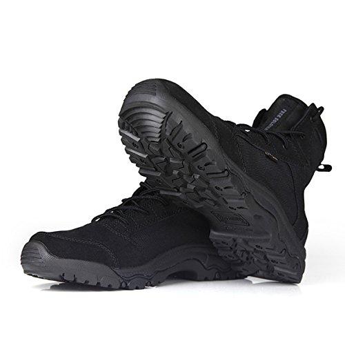 Free Soldier Outdoor Herren atmungsaktive leichte Camping Wandern Sportschuhe Schwarz schnelle trockene Wasser Schuhe - Fs-boot