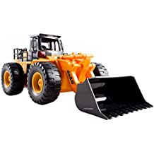 deAO Camión de Construcción Excavador de Carga Frontal Teledirigido con Luces LED y Sonidos Incluye Batería Recargable y Cargador USB