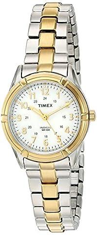 Timex Femme 'Easton Avenue' à quartz en laiton et acier inoxydable, Casual Montre, Couleur: Deux Tons (modèle: tw2p890009j)