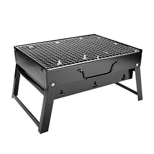 XZANTE Falt BBQ Grill Tragbare Grill Holz Kohle Grill Draht Gewebe Werkzeuge Für Au?en Camping Kochen Picknicks Wandern