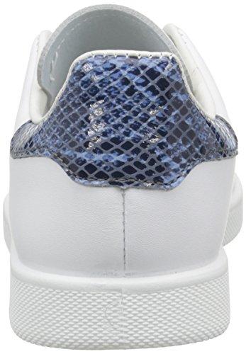Victoria - Deportivo Basket Piel, Scarpe da ginnastica Unisex – Adulto Blanc (Blanc/Bleu 36)