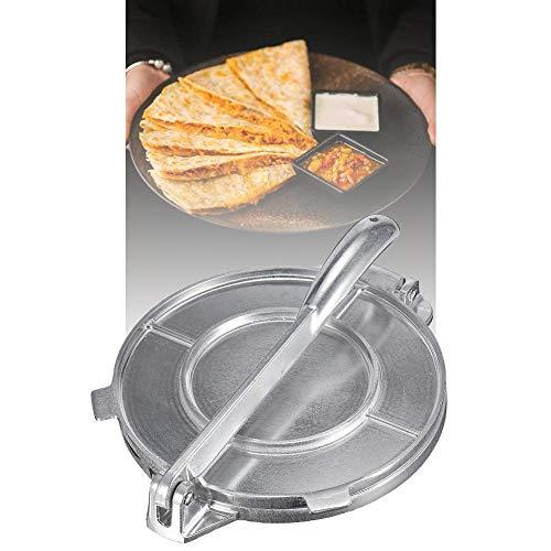 Etanby Mexikanische Tortilla-Presse, 20 cm beständige Aluminium-Nudelpresse, manuelle Gusseisen-Mehl-Mais-Tortilla-Presse