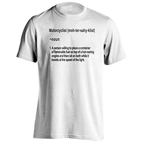 Definizione di Motociclista novità divertente Uomo T-shirt b6m White