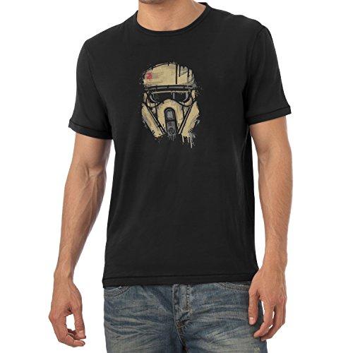 TEXLAB - Trooper Helmet Painting - Herren T-Shirt Schwarz