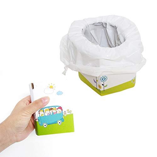 Yunhigh Vasino monouso da viaggio pieghevole in cartone portatile vasino per urina toilette di emergenza con 5 vasini per il viaggio in campeggio (1 confezione)