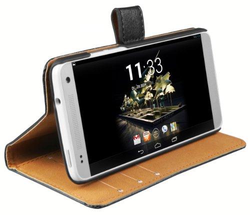 mumbi Ledertasche im Bookstyle für HTC One Mini Tasche