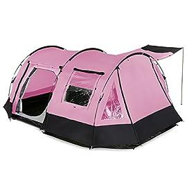 907df7402fba26 Skandika Kambo – 4 persone – tenda campeggio familiare – tunnel –  zanzariera – rosa