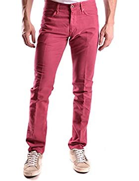 Incotex Hombre MCBI154028O Rojo Algodon Pantalón