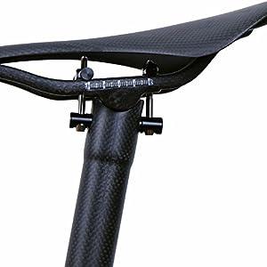 LRG - Tija de Carbono para Sillín de Bicicleta, para Carretera, MTB y Bicicleta, Color Negro Mate 27/30,8/31,6 x 300/350 y 400 mm, Tamaño 27.2