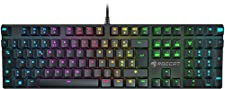 Roccat Suora FX Clavier Gaming Mécanique Rétroéclairé RGB, AZERTY, Touches Macro, Touches Lumineuses et Multicouleurs, avec Système Anti Ghosting, Connexion USB pour PC, Jeux FPS et MMO, Noir