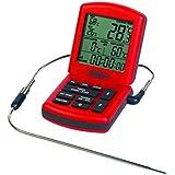 ChefAlarm profesional termómetro de cocina y temporizador en rojo–para el hogar o de cocina profesional