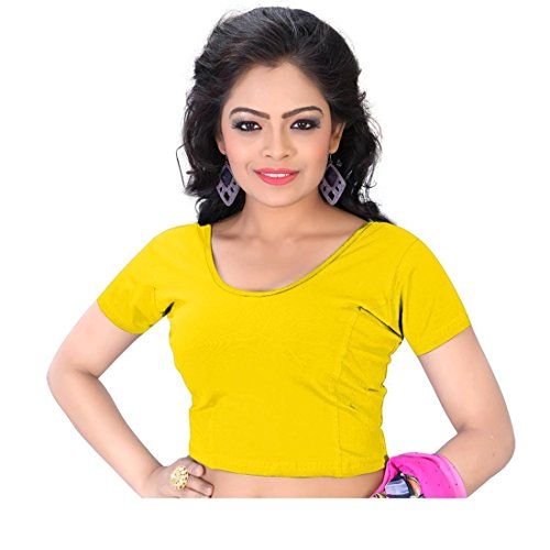 blouse for women (60sz) (Yellow, 30)