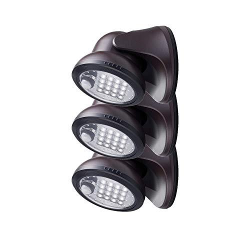 LED-Leuchte für die Veranda, 400 Lumen, Bronze, 3 Stück -