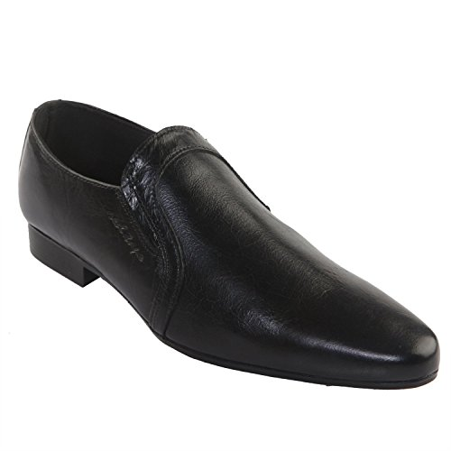 Red Tape Men's Black Leather Formals & Lace-Up Flats (RTR0358) - 7 UK