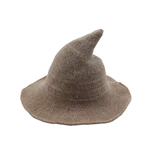 Yvelands Damen Hexe Hut Faltbare Kostüm Sharp Large Brim Crochet Warme - New Falcon Kostüm