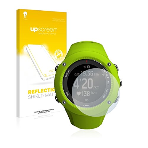 upscreen Reflection Shield Matte Displayschutz Schutzfolie für Suunto Ambit3 Run Lime (matt - entspiegelt, hoher Kratzschutz)