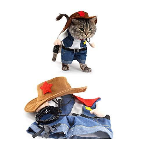 Always Pretty Hunde-/Katzen-Kostüm für Cosplay, süßer Mantel, M, Cowboy