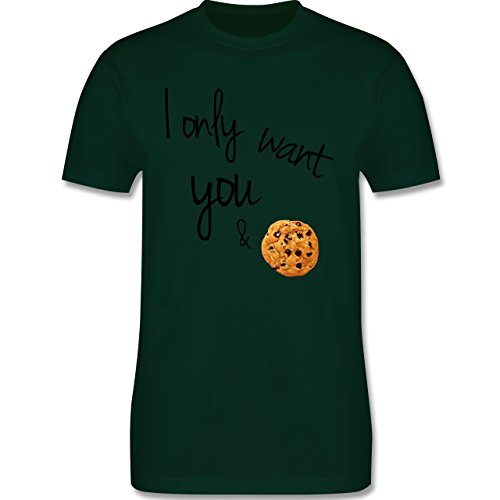 Statement Shirts - I only want you and cookies - Herren Premium T-Shirt Dunkelgrün