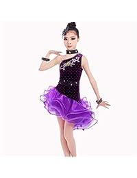 Trajes de Vestir de Baile de Tango Niños Niños Escenario Rendimiento  Competición Salón de Baile Vestido Latino Traje… 50b722a06b709