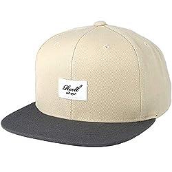 Pitchout 6P Snapback Cap Basecap Baseballcap Baumwollcap Kappe Baseballkappe Reell Cap Basecap (One Size - beige-grau)