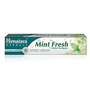Himalaya Herbals Gum Expert Mint Fresh Herbal Toothpaste 75ml Plaque And Germ Removal Tooth and Decay Prevention. Paraben Free and Fluoride Free Toothpaste. 100% Vegetarian