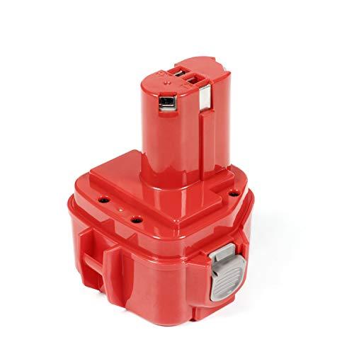 LENOGE Nuova Batteria per Makita 12V 3.0Ah Ni-MH 1220 PA12 1222 1233S 6270D 1250 1200 1234 1235 Trapano Avvitatore Smerigliatrice angolare batteria di ricambio - Rosso