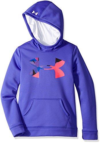 Under Armour Mädchen Armour Fleece Big Logo Hoody Oberteil, Constellation Purple, YXS Big Logo Hoody