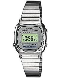 Casio LA670WEA-7EF - Reloj digital de cuarzo para mujer con correa de acero inoxidable, color plateado