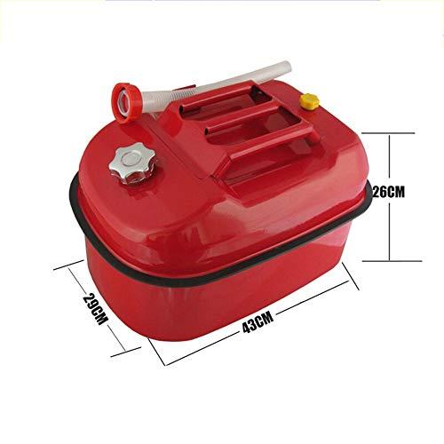 CHQYY Serbatoio di carburante Barile di benzina addensato con fusto di petrolio 5 litri 10 litri 20 litri Fusti di ferro Motore Moto Barili di carburante Bollitore diesel Bollitore di scorta Serbatoio