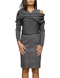 Amazon Donna Abbigliamento Tortora it 42 wTgPqTU8Sn