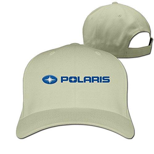 Huseki MKCOOK Unisex Polaris Logo Snapback Caps/Peaked Caps/Baseball Caps Hats Natural -