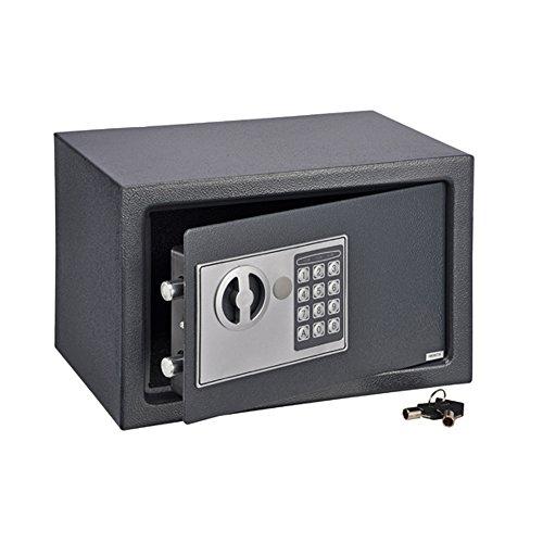 COM-FOUR cassaforte con combinazione numerica e chiave elettronica, 31x 20x 20cm