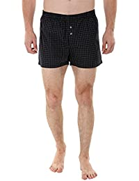 Zobello Woven Black Check Boxer Shorts