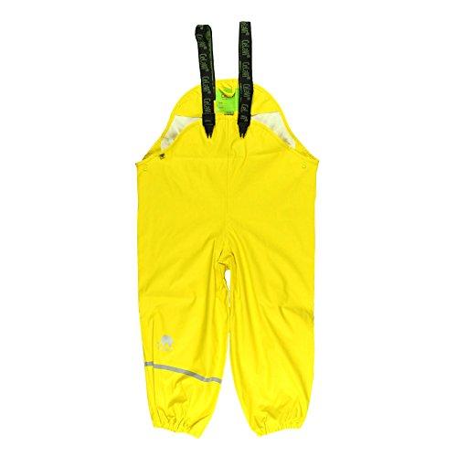Kinder Größe 4 Stiefel Regen (Celavi Kinder Unisex Regen-Latzhose, Alter 3-4 Jahre, Größe: 100, Farbe: Gelb, 1155)