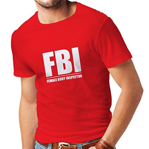 - Weiblicher Körper Inspektor - lustige Geschenke für Männer, Humorvolle Zitate (XX-Large Rot Weiß) (Lustige Satire Ideen)